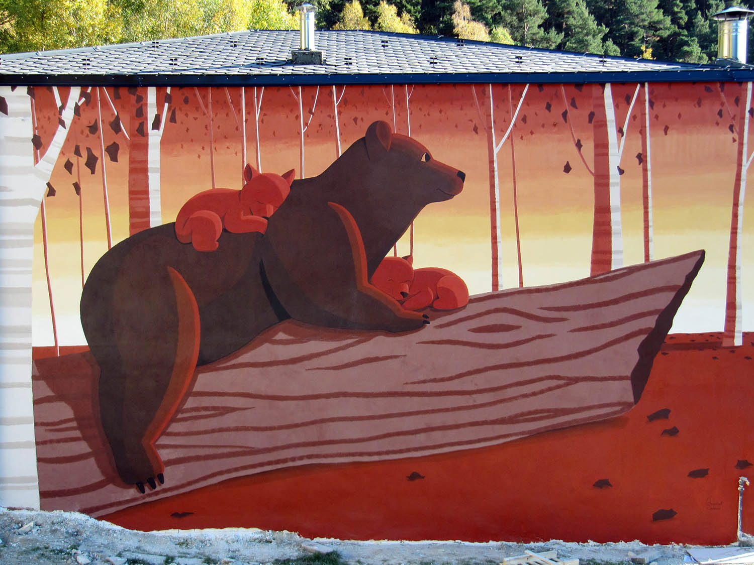 Mural family of bears